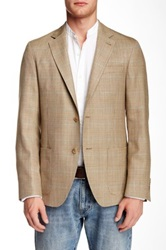 Ike Behar Houndstooth Notch Lapel Two Button Sportcoat Beige