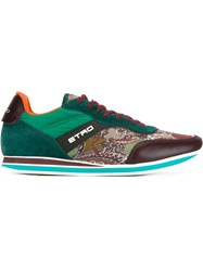 Etro Panelled Sneakers Multicolour