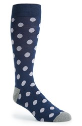 Men's The Tie Bar 'Common Dots' Socks Blue Blue Lavender