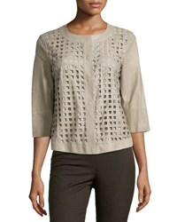 Armani Collezioni Laser Cut Front Kidskin Jacket Chord