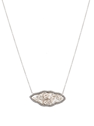 Susan Foster Cloud Diamond Slice And White Gold Necklace