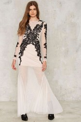 Nasty Gal Collection Bated Breath Beaded Maxi Dress Multi