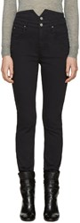 Etoile Isabel Marant Black High Rise Earley Jeans