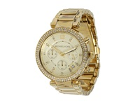 Michael Kors Mk5354 Parker Chronograph Gold Ip Chronograph Watches