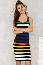 Nasty Gal Glamorous Flying Colors Striped Knit Dress
