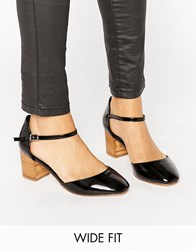Asos Ora Wide Fit Heels Black