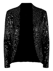 Hotsquash Sequin Jacket With Thermal Lining Black
