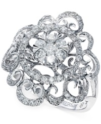 Effy Collection Effy Diamond Swirl Ring In 14K White Gold 3 4 Ct. T.W.