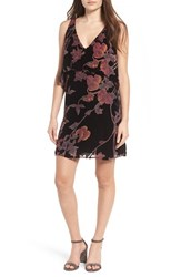 Everly Women's Floral Burnout Popover Dress