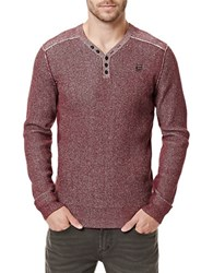 Buffalo David Bitton Warenty Henley Sweater Maroon