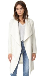 Cupcakes And Cashmere Alana Textured Knit Wrap Coat Ivory