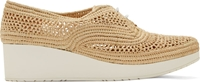 Robert Clergerie Natural Beige Raffia Vicolei Wedge Shoes