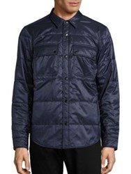 Burberry Harkstead Quilted Shirt Jacket Navy
