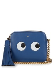 Anya Hindmarch Eyes Leather Cross Body Bag Blue
