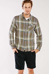 Patagonia Iron Ridge Button Down Shirt Green Multi