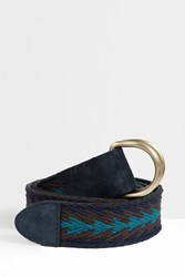 Missoni Chevron Belt Blue