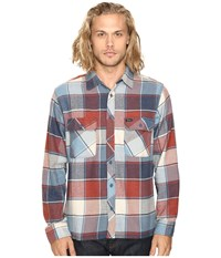 Brixton Archie Long Sleeve Flannel Light Blue Plaid Men's Long Sleeve Button Up