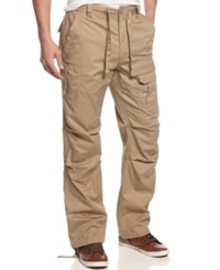 Sean John Big And Tall Pants Pleat Pocket Flight Pants Travertine