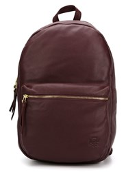 Herschel Supply Co. Leather Backpack Red