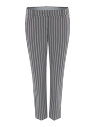 Sportmax Klenia Herringbone Cropped Trousers Black