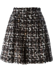 Dolce And Gabbana Boucle A Line Shorts Brown
