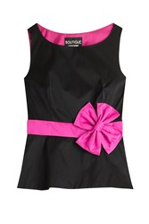 Boutique Moschino Shell With Bow Sash Black