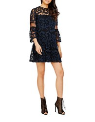 Donna Morgan Three Fourth Sleeve Lace Dress Black Marine
