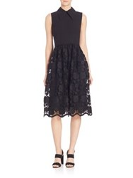 N 21 Collared Floral Lace Dress Black