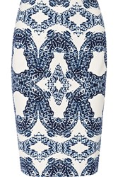Tart Collections Tracey Printed Ponte Skirt Blue