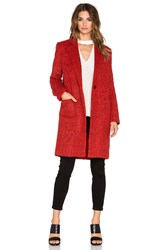 Zac Posen Giselle Coat Red