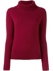 Vanessa Bruno Cowl Neck Jumper Red