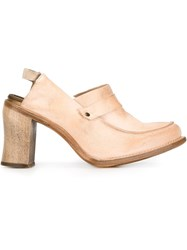 Cherevichkiotvichki Open Heel Mocassin Pumps Nude And Neutrals