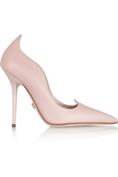 Versace Scalloped Leather Pumps