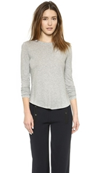 Vince Basic Long Sleeve Tee Heather Grey