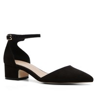 Aldo Zusien Ankle Strap Low Heel Court Shoes Black