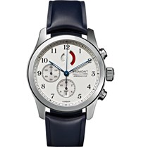 Bremont America's Cup Regatta Stainless Steel And Rubber Chronograph Watch Silver