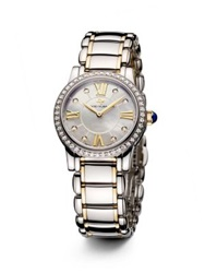 David Yurman Classic 30Mm Stainless Steel Quartz Watch With 18K Gold And Diamonds Silver