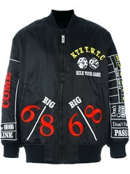 Ktz 'Rule Your Game' Bomber Jacket Black
