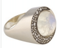 Noor Fares Tilsam Eclipse Ring In Blue Moonstone With Grey Black Gold And White Diamonds