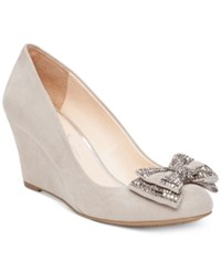 Jessica Simpson Selonia Embellished Bow Wedges Women's Shoes Warm Stone