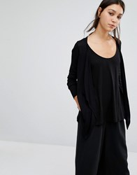 Vero Moda Long Sleeve Drapey Cardigan Black