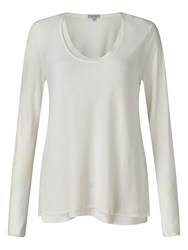 Jigsaw Double Layer Long Sleeve Tee Ivory