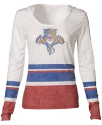 Levelwear Women's Long Sleeve Florida Panthers Hooded T Shirt White