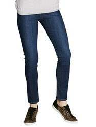 Mint Velvet Lincoln Zip Skinny Jeans Blue