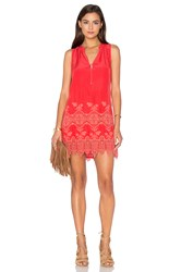 Maven West A Line Shift Dress Red