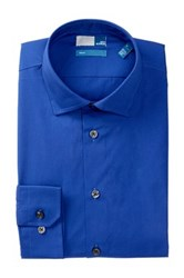 14Th And Union Long Sleeve Trim Fit Solid Dress Shirt Blue