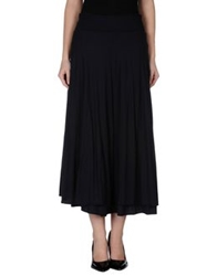Almeria 3 4 Length Skirts Dark Blue
