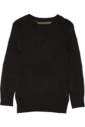 Enza Costa Knitted Sweater Black