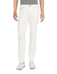 Brooks Brothers Straight Leg Jeans White