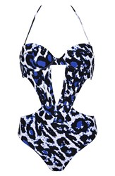 Topshop Women's Kendall Kylie At Animal Print One Piece Swimsuit